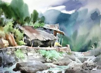 昌化清凉峰写生作品1