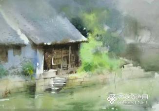 江南古镇写生作品1